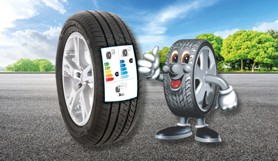 EU tyre labelling stickers