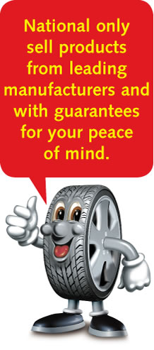 National only sell products from leading manufacturers with guarantees for your peace of mind