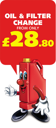 Oil & filter Change from £28.80