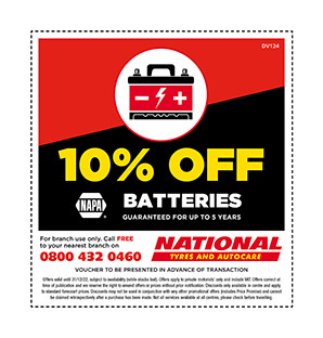 Batteries discount voucher