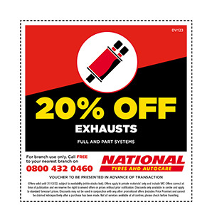 Exhausts discount voucher