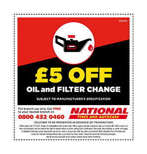 Oil change discount voucher