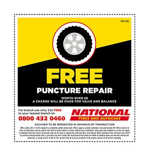 Free puncture repair voucher