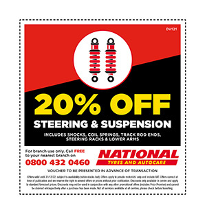 Steering & suspension discount voucher