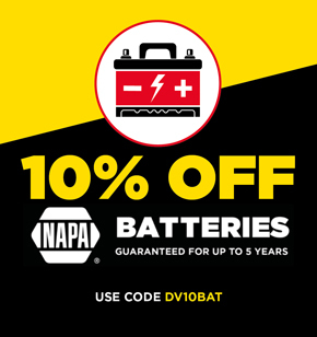 Battery discount voucher