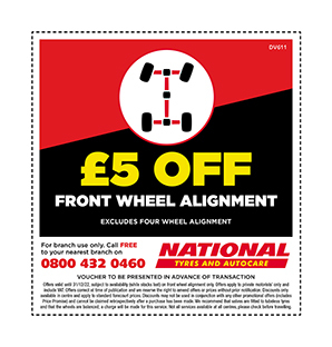 Wheel alignment discount voucher